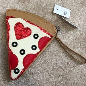Handbags - NWT pizza clutch